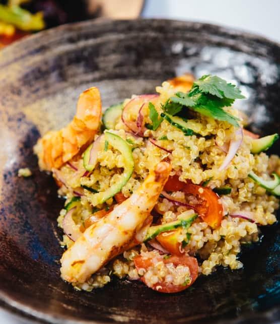 quinoa à la mangue et au crevette
