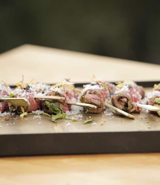 rouleaux de tataki de steak