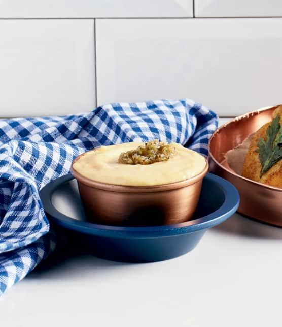 aïoli cuit au citron et herbes salées du Bas-du-Fleuve