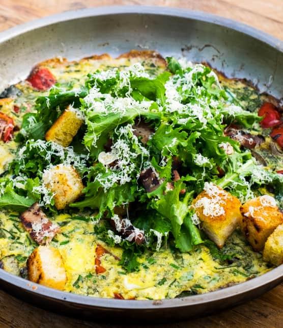 frittata avec légumes grillés et comté