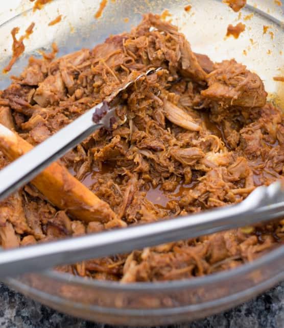 porc effiloché et sauce barbecue