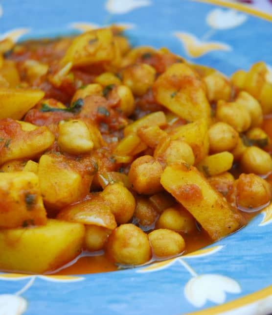 recette de pois chiches à l'indienne