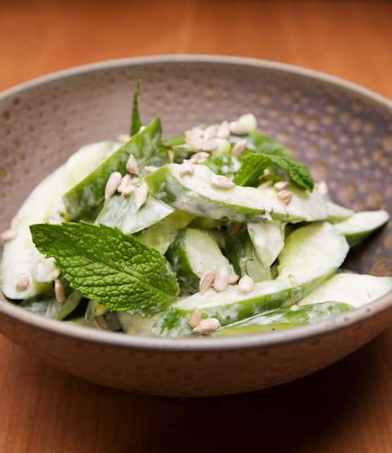 salade de concombre à la menthe, Dijon et citron