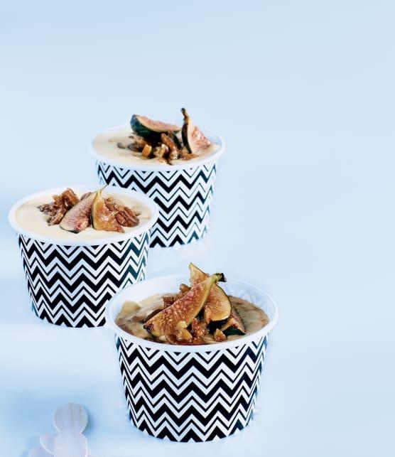 Figues et pacanes grillées au miel et à l'érable