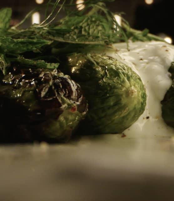 L'avant-match des foodies - Concombres grillés à l'huile d'ail