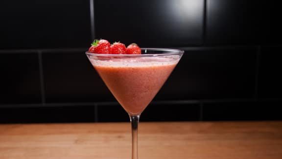Mousse aux fraises à la ricotta