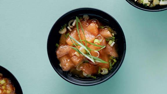Sauce mignonette au pamplemousse pour huîtres