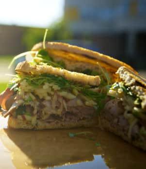 Sandwich de smoke-meat de canard
