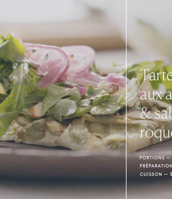 Trois fois par jour & vous - Tarte fine aux asperges & salade de roquette