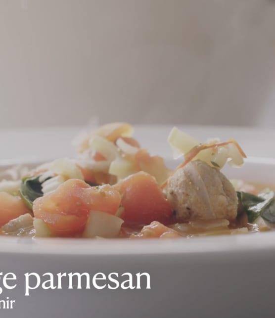 Trois fois par jour & vous - Soupe florentine à la saucisse italienne et aux raviolis
