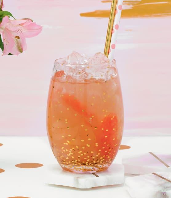 Limonade de pamplemousses roses, miel et menthe