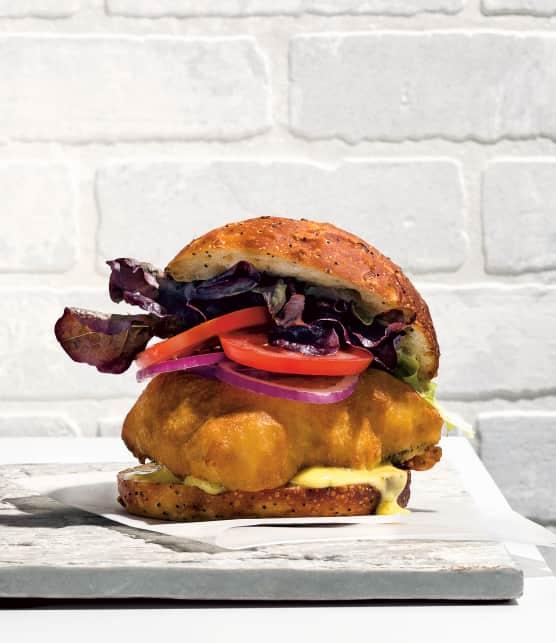 burger de morue charbonnière