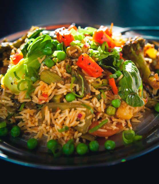 biryani aux légumes mélangés