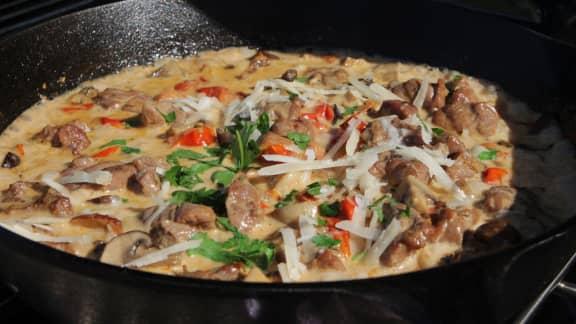 Ragoût de veau sauce aux champignons