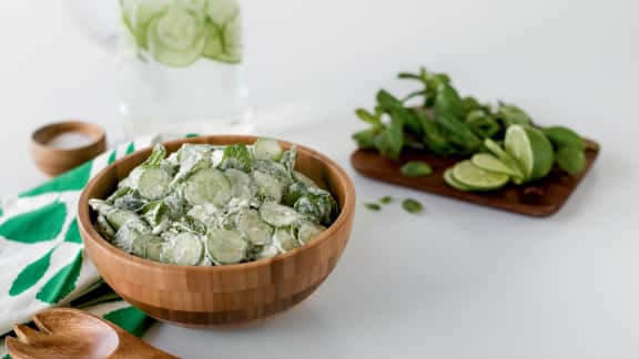 Salade de concombres (Kiar Bi Laban)