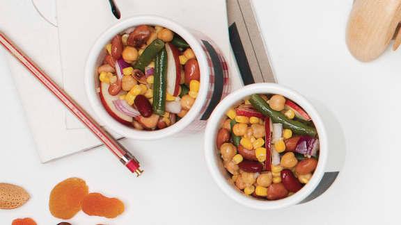Salade de pommes et de légumineuses