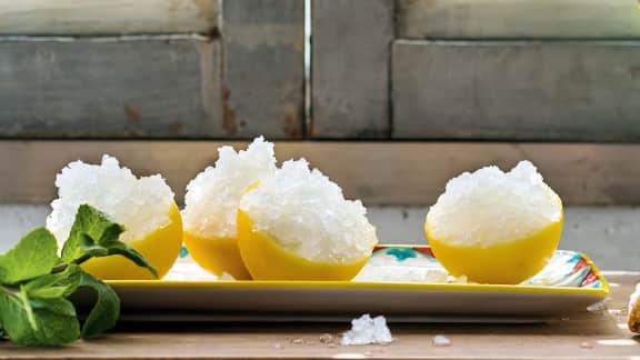 Granita di limone (granité au citron)