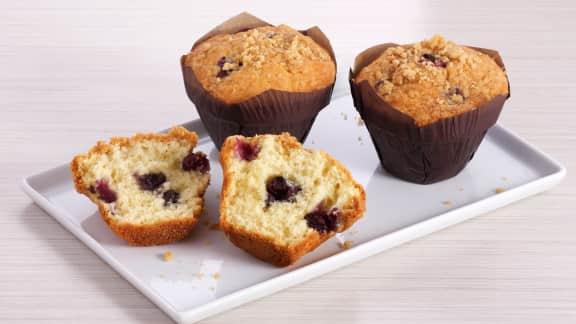 Muffins classiques aux bleuets et au streusel