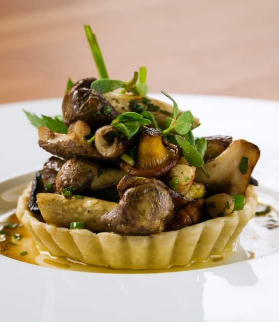 Tartelettes de champignons sauvages