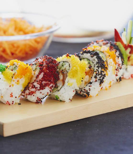 Maki homard poêlé au beurre et au saumon