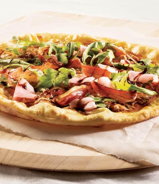 Pizza au canard fumé
