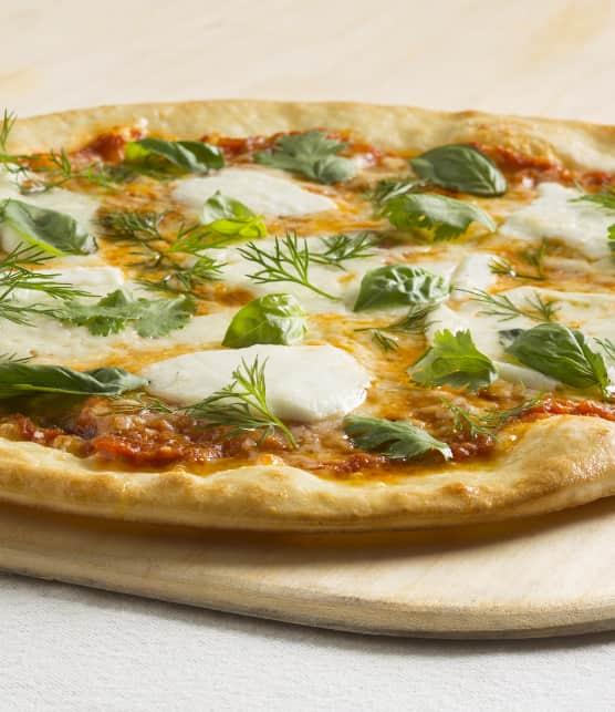 Pizza à la mozzarella de bufflonne