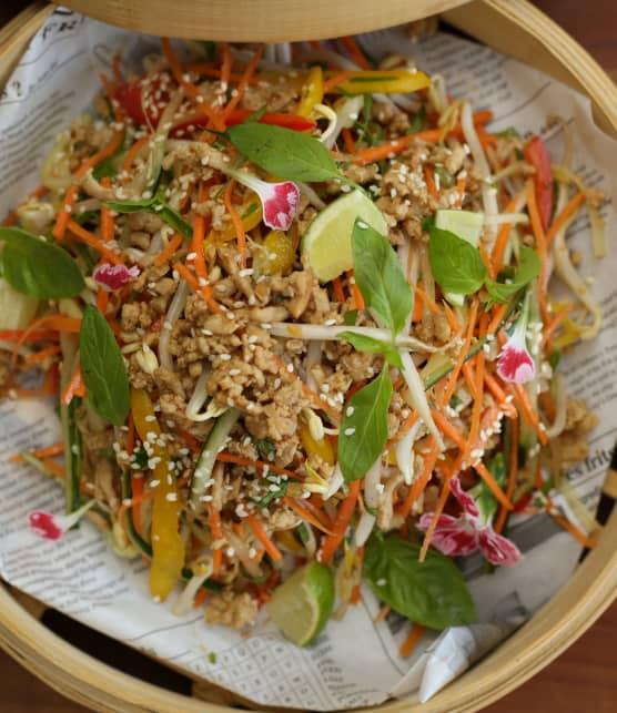 Salade Laab Gaï de dinde hachée