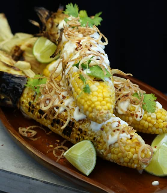 Maïs grillé à la mexicaine