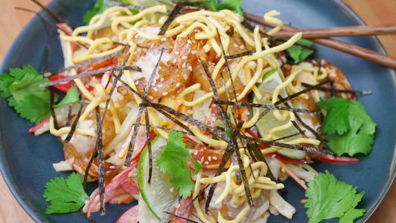 Fabuleux Recette de salade thaïe de crevettes rôties | Foodlavie VT23