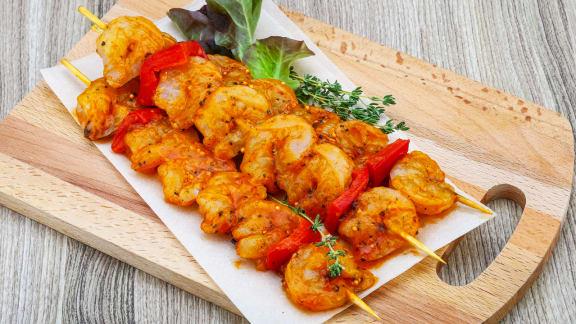Crevettes grillées à l'orientale