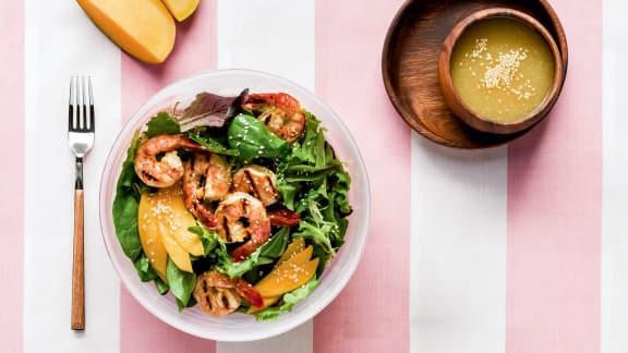 Salade de crevettes et de mangues