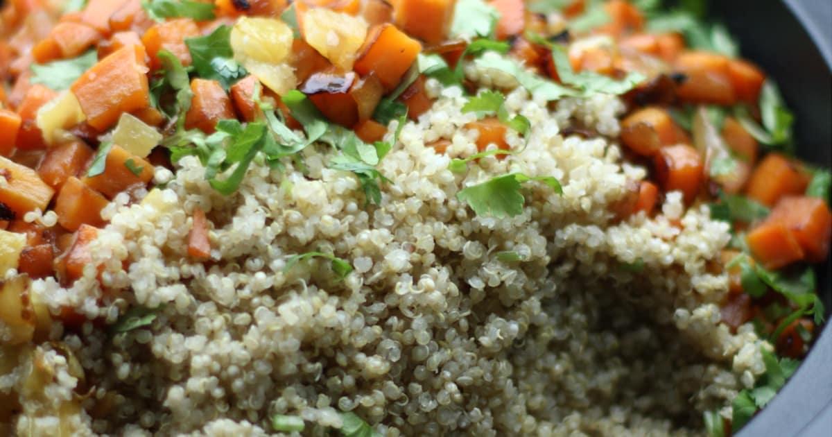 Recette: Couscous de quinoa aux légumes racines   Glouton
