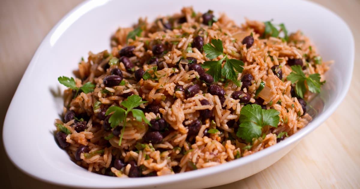 riz aux haricots noirs la mexicaine foodlavie. Black Bedroom Furniture Sets. Home Design Ideas