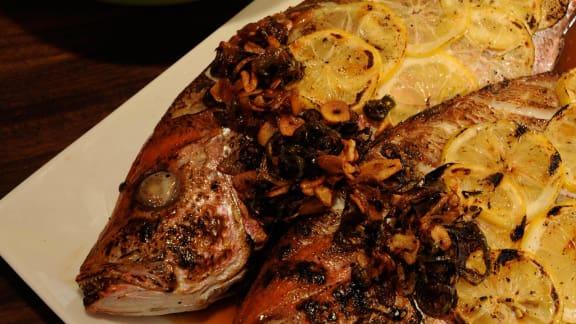 vivaneau grillé à la sauce aigre-douce