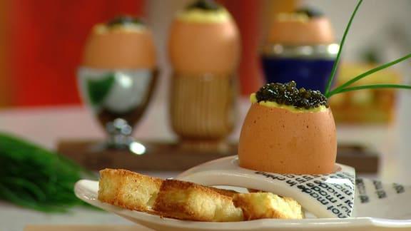 brouillade au foie gras et au caviar