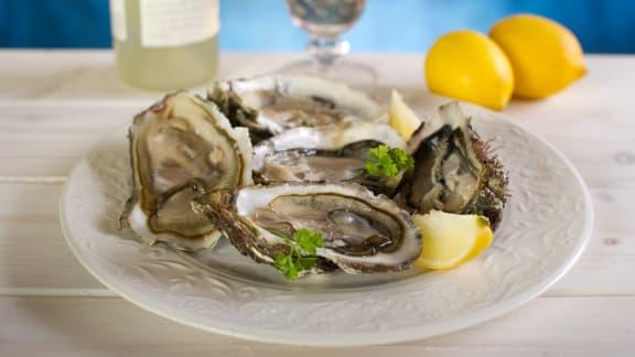 huîtres grillées