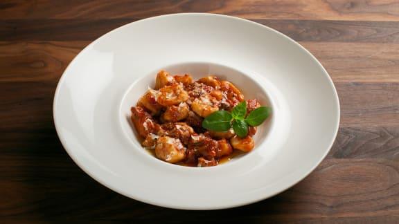 gnocchis sauce tomates et champignons