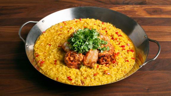 risotto crevettes et safran