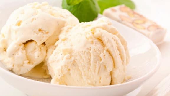 Crème glacée classique à la vanille