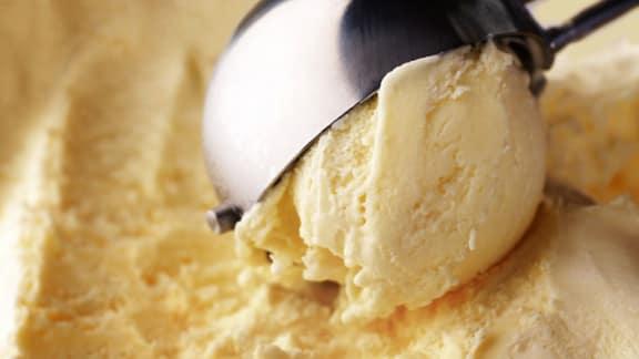 Crème glacée au miel