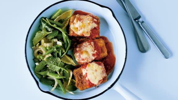 Escalopes de tofu parmigiana