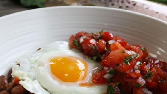recettes de haricots mexicains et salsa épicée
