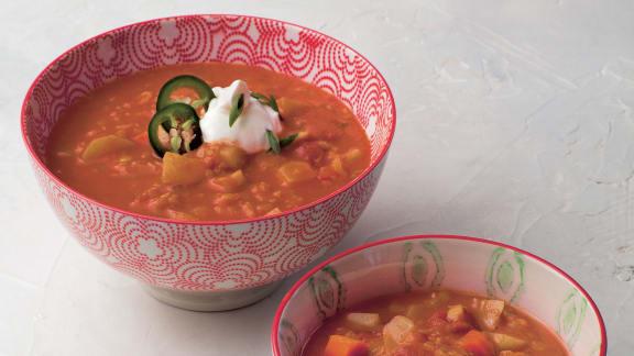 Soupe mulligatawny végétarienne