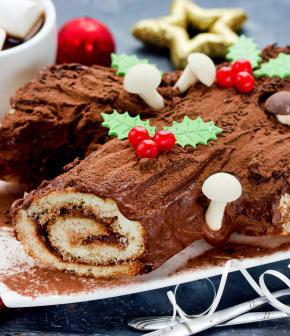 Bûche de Noël traditionnelle