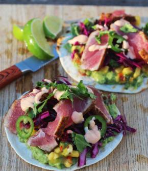 Tacos de thon rouge