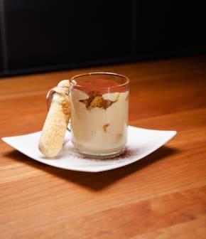 Crémeux au chocolat blanc et café