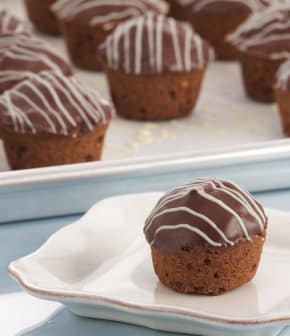 Mini-friands au chocolat et aux noisettes