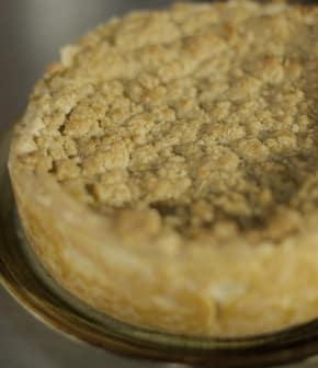 Recette de tarte croustade à la poire et crème sure