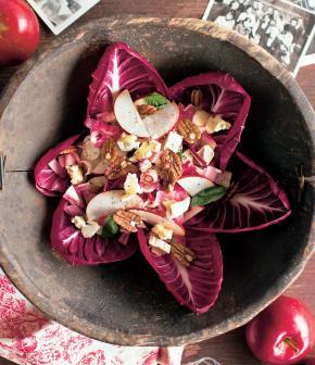 salade de pommes, noix et endives