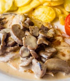 Seitan au porto, mascarpone et poivre